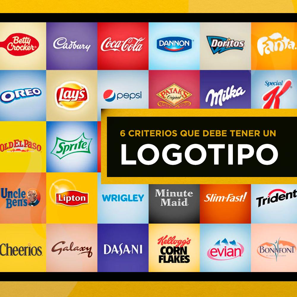 6 criterios que debe tener un logotipo